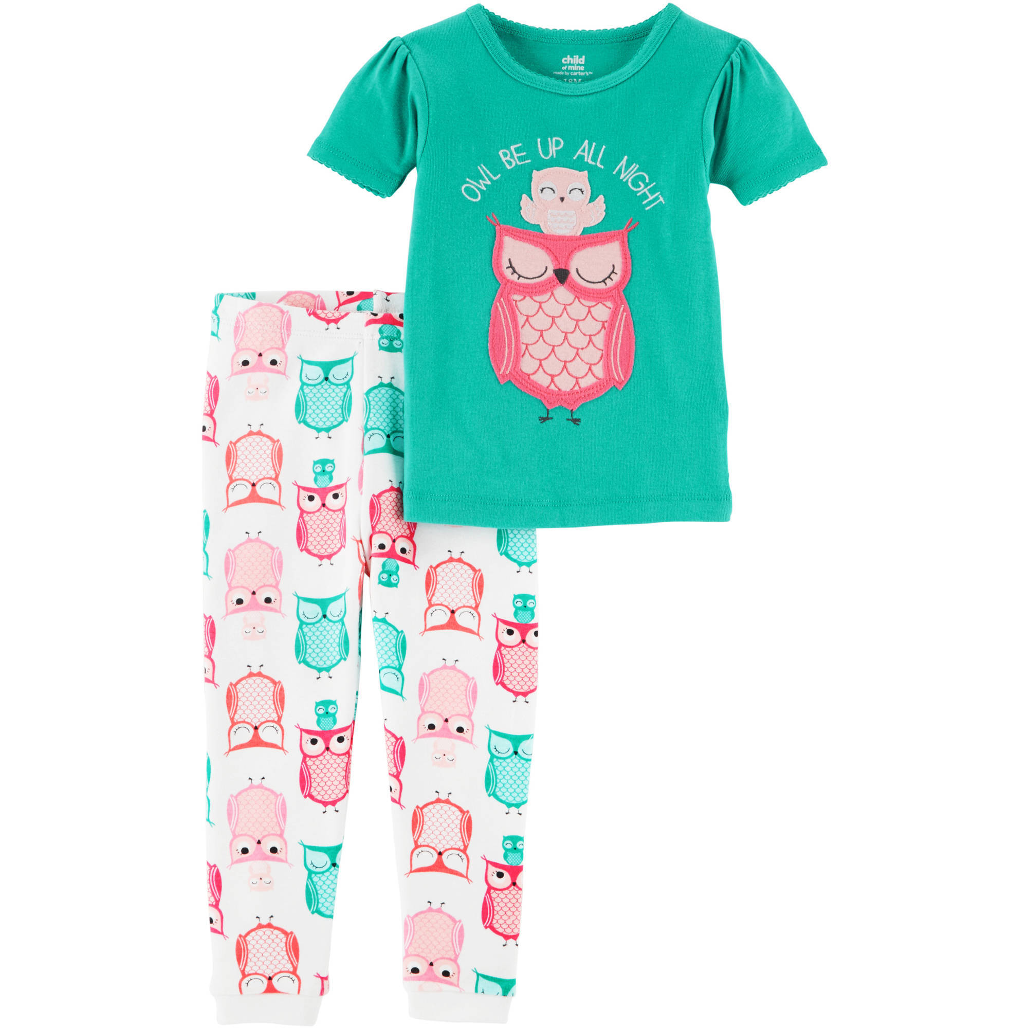 a99827a88 Child of Mine by Carter s - Baby Toddler Girl 2 Piece Cotton Pajama ...