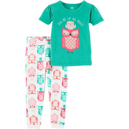 f5ad412f8aed Child of Mine by Carter s - Baby Toddler Girl 2 Piece Cotton Pajama ...