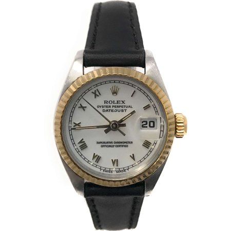 Datejust 6917 White Stick dial and a Yellow Gold Fluted Bezel (Certified - Bezel White Stick Dial