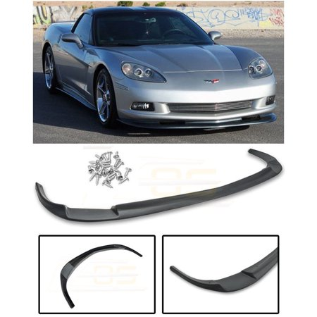 Extreme Online Store Replacement for 2005-2013 Chevrolet Corvette C6 Base Models | EOS ZR1 Style ABS Plastic Primer Black Front Bumper Lower Lip Splitter FLIP-083-ABS](Craft Store Online)