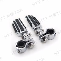 "Highway Radical Flame Foot Pegs Clamps 1"" 1 1/4"" For Harley Sportster 883 1340"