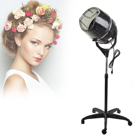 Professional Stand Up Hair Dryer 110V with Timer Swivel Hood Caster Adjustable Height for Beauty Salon -