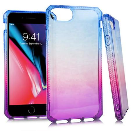 MUNDAZE Purple Pink Ombre Deluxe TPU Flexible Case For Apple iPhone 8 PLUS / iPhone 7 PLUS