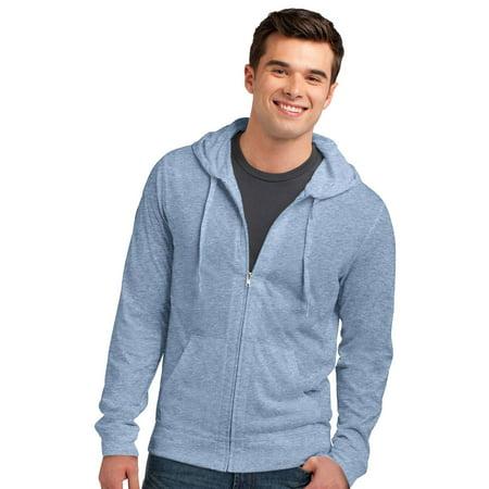 2b790081f88 District Men s Lightweight Stylish Full-Zip Hoodie - Walmart.com