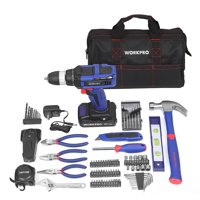 WORKPRO 90-Piece 20-Volt Lithium-Ion Cordless Drill Project Kit