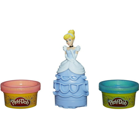 Play-Doh Disney Mix 'N Match Figure Set with Cinderella & 2 Cans of Dough Play Dough Mix