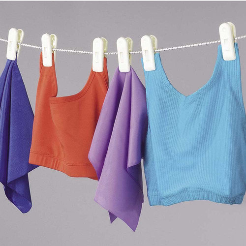 Household Essentials Clothesline with 6 Jumbo Clips