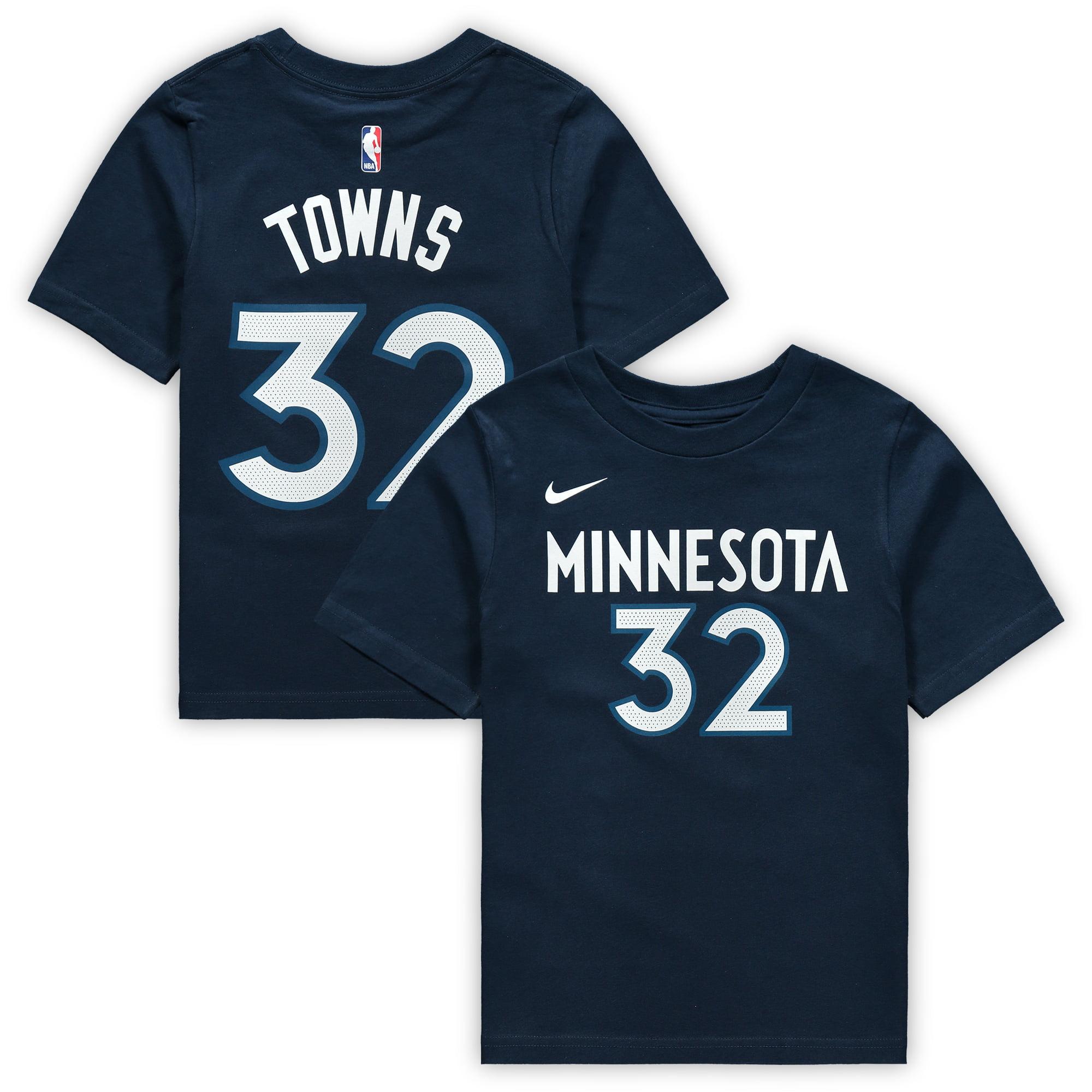 Karl-Anthony Towns Minnesota Timberwolves Nike Preschool Name & Number T-Shirt - Navy