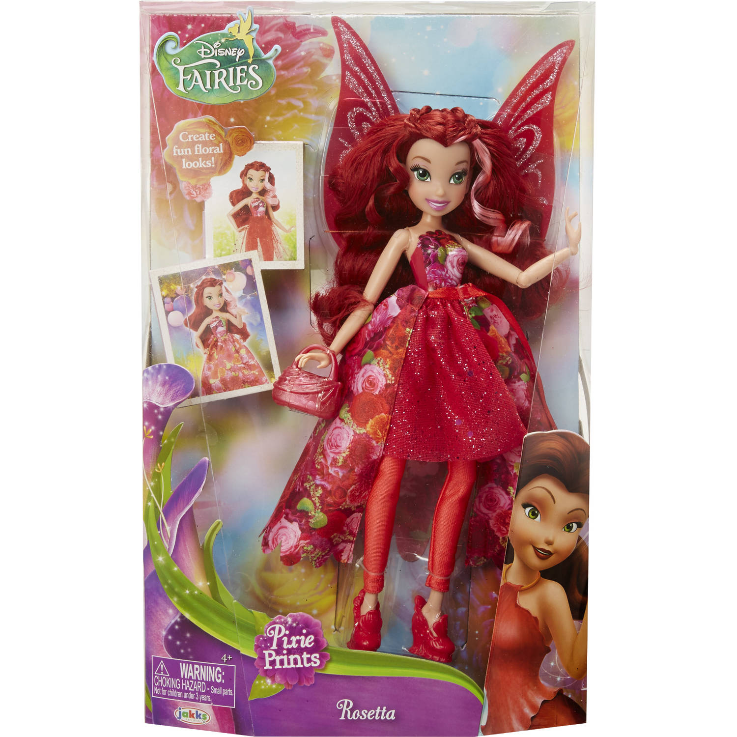 "Disney Fairy 9"" Rosetta Deluxe Fashion Doll, Floral"