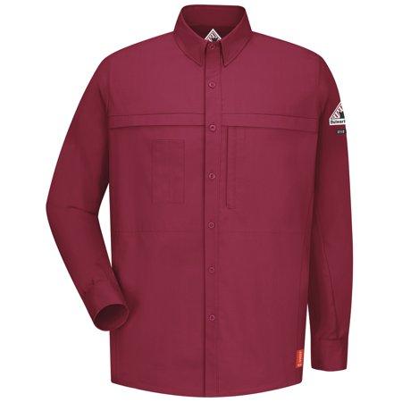 bulwark fr red iq comfort woven concealed pocket shirt ()