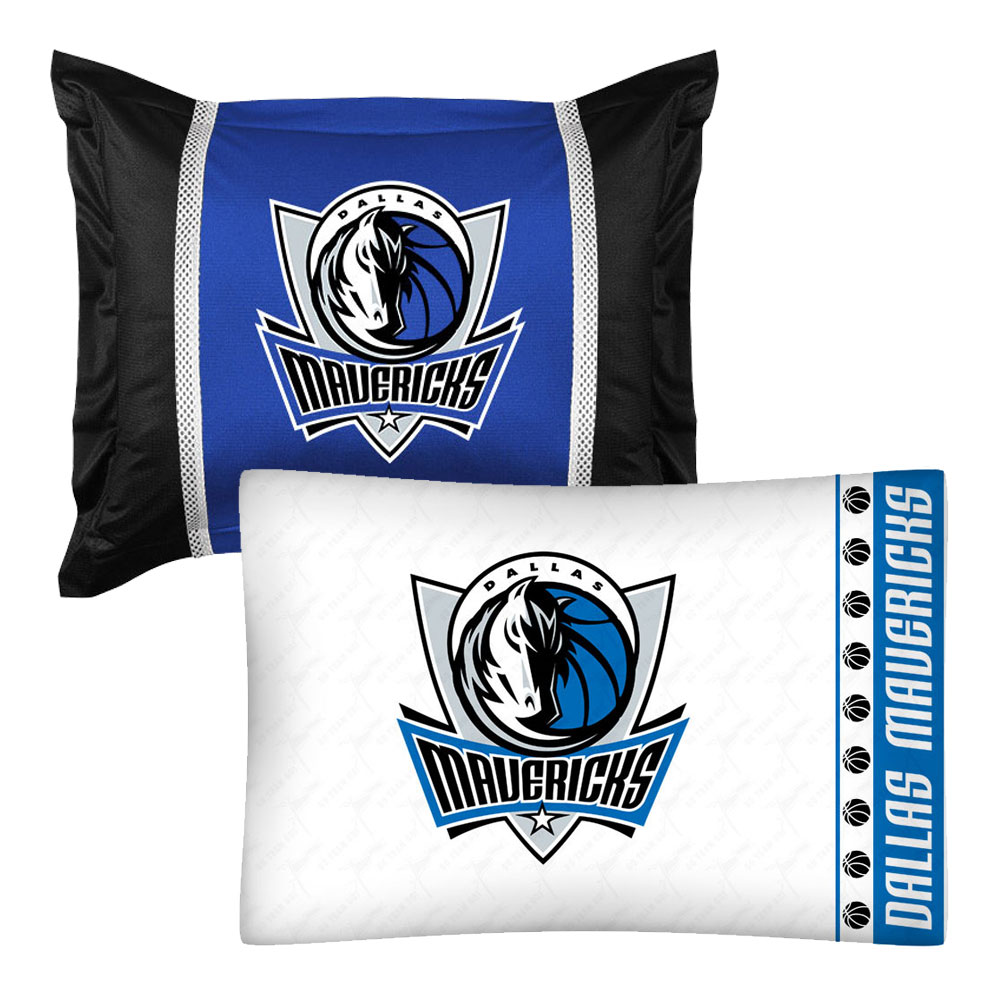 NBA Dallas Mavericks Pillowcase Sham Set Basketball Bedding