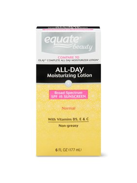 Equate Beauty All-Day Moisturizing Lotion with Sunscreen, Normal Skin, 6 fl oz