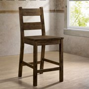 Furniture of America Belton I Armless Counter Chairs - Set of 2, Rustic Oak