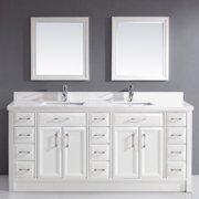 Bauhaus Bath Caledonia 75'' Double Bathroom Vanity Set