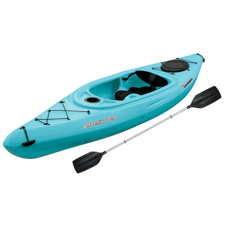 Sun Dolphin Phoenix 10.4 Sit-In Kayak Sea Blue, Paddle Included ()