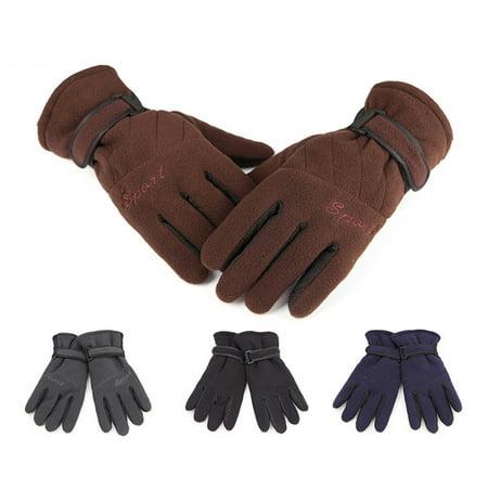 Three Layer Man Woman Aotu Thickening Windproof Soft Gloves Outdoor Winter Warm Fashion Unisex Wrist Mitten - image 3 of 6