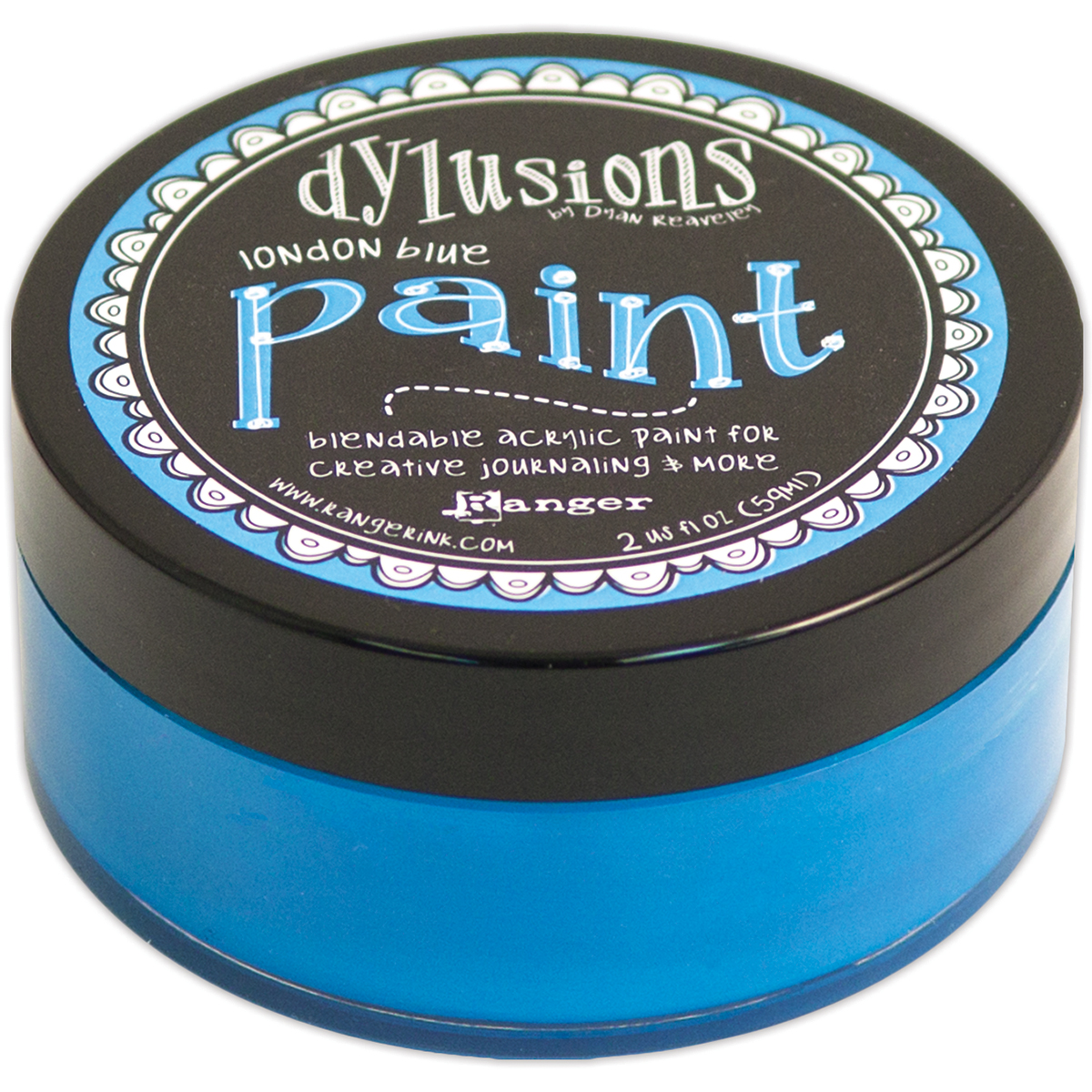 Dylusions By Dyan Reaveley Blendable Acrylic Paint 2oz-London Blue