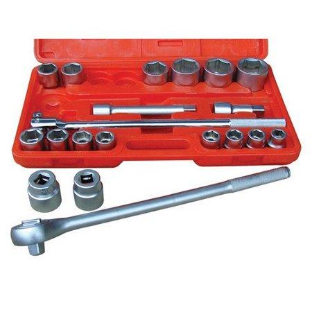 Fractional Socket Set - Rel Products, Inc. ATD-10021 3/4 Dr. 6-point Fractional Socket Set, 21 Pc.