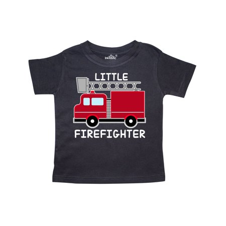 red fire little firefighter white text Toddler - Firefighter Girls