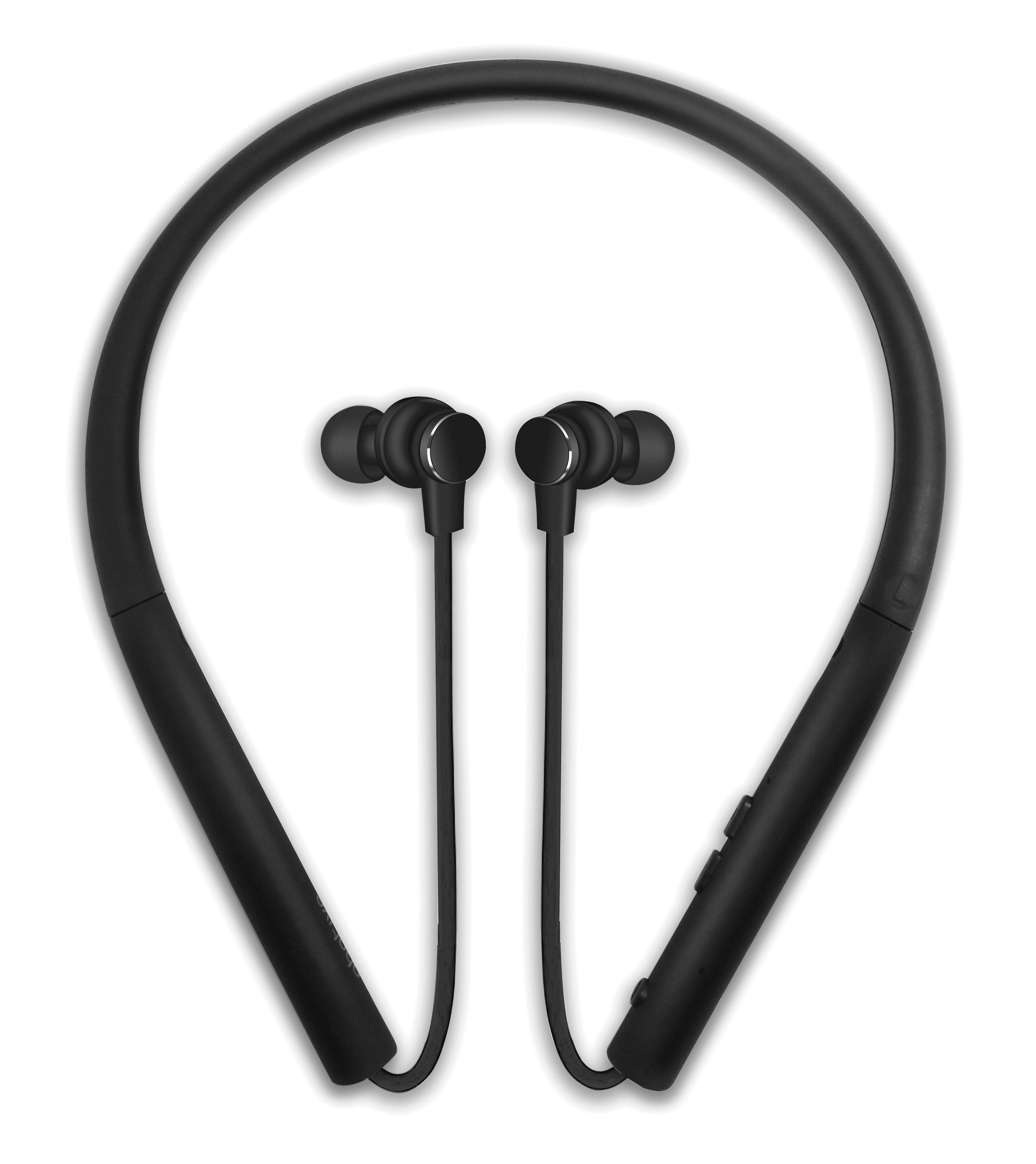 Photive Flex Wireless Bluetooth Stereo Neckband Headphones With Magnetic In Ear Earbuds Comfortable Lightweight Sweatproof And Secure Fit 12 Hour Battery And Microphone Walmart Com Walmart Com