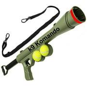 Komando K-9 Tennis Ball Launcher Gun includes 2 Squeaky Balls Best Dog Toy - Semi Automatic Blast