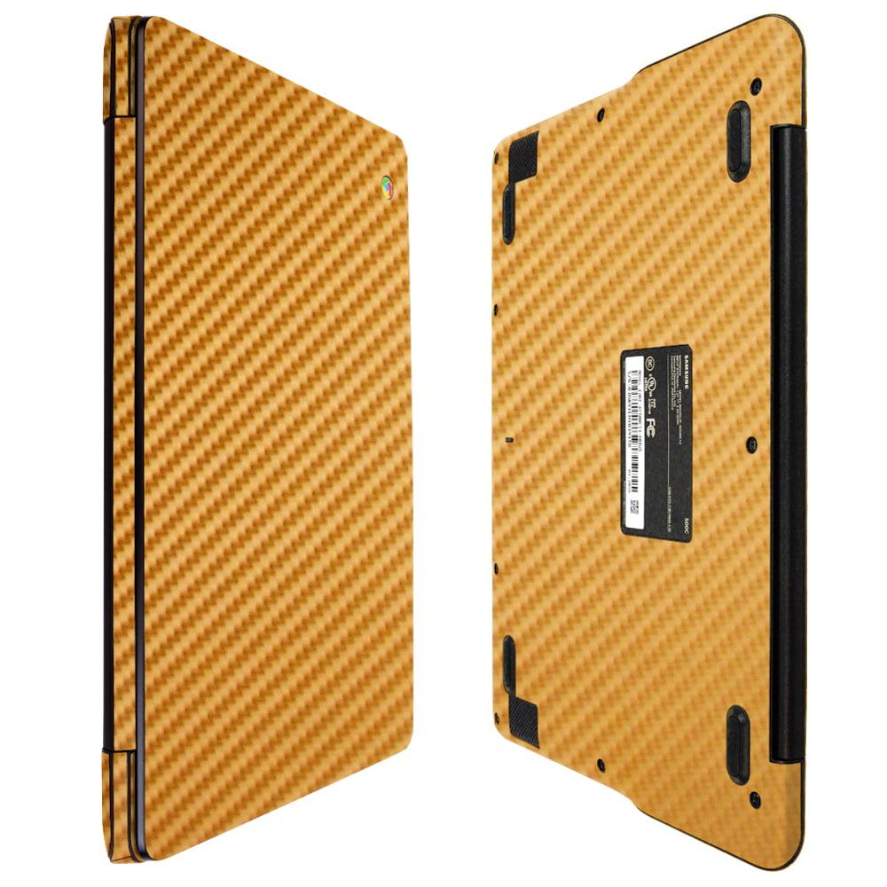 "Skinomi Gold Carbon Fiber Skin Protector for Samsung Chromebook 3 11.6"""