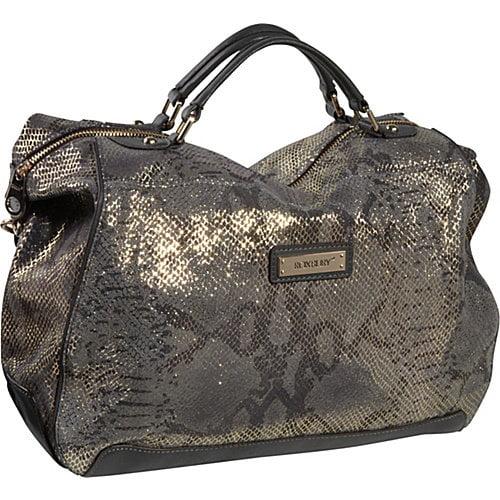 Roxbury Mirabelle Snakeskin Boston Bag