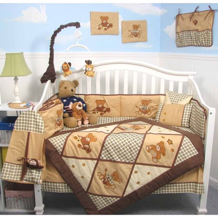 Giant Panda Bear Baby Crib Nursery Bedding Set