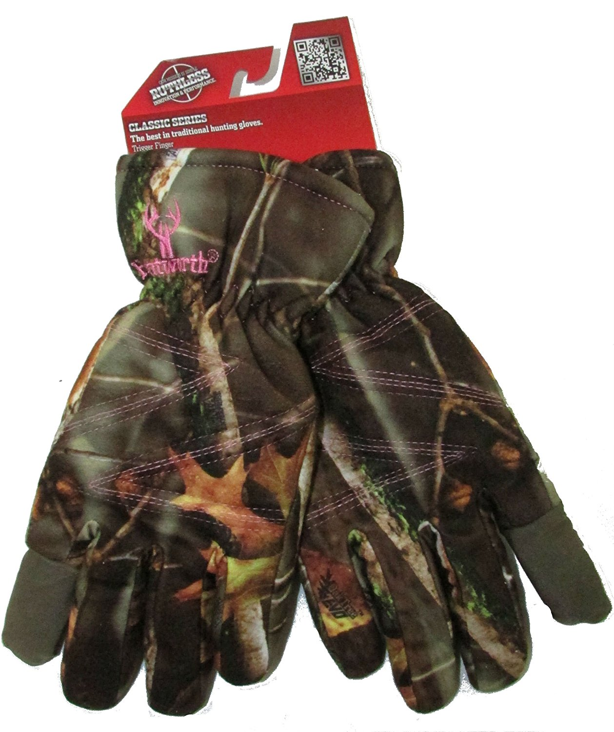 Women's Insulated Classic Cold Weather Camo Ladies Hunting Glove (Medium) by Huntworth