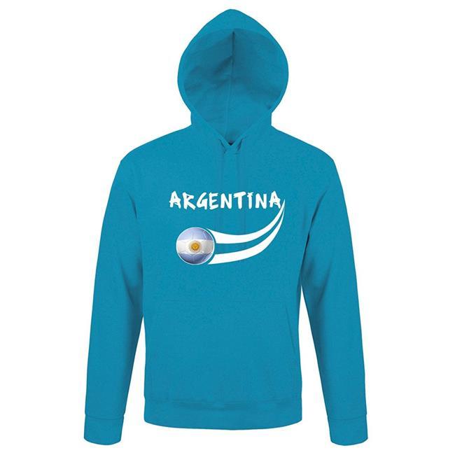 Supportershop ARHOOBL-L Argentina Aqua Blue Hooded Mens Sweatshirt - Large - image 1 de 1