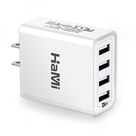 HaMi 25W 5A 4-port USB Wall Charger,Power Adapter Travel Charger with Power