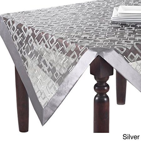 Fennco Styles Mondrian Embroidered Geometric Design Tablecloth (40