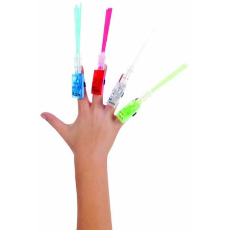 Fiber Optic Lazer Fingers (4-Pack), Watch the amazing science of fibres at work with these cool fingertip flashlights. Each finger is a different color; just.., By Toysmith - Finger Flashlights