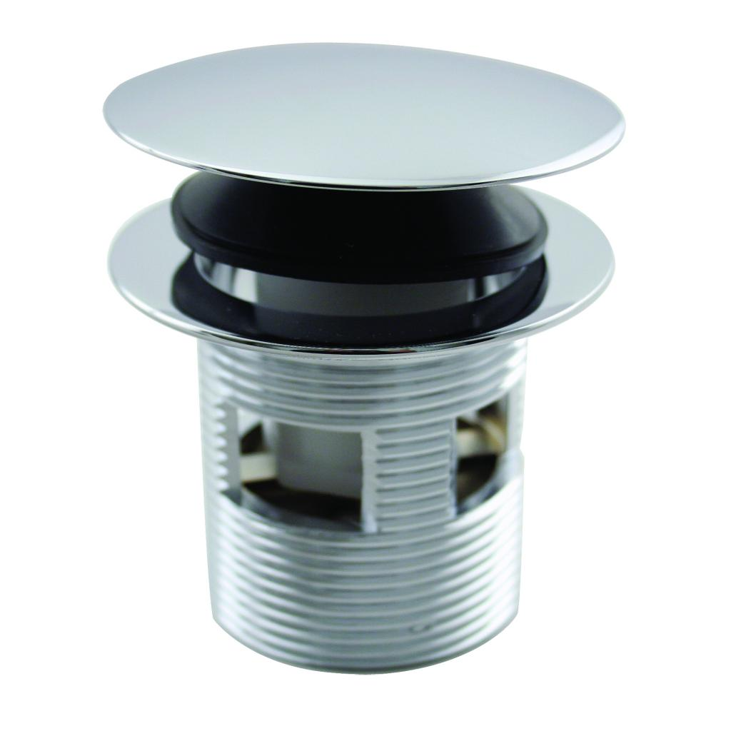 Westbrass D98R-26 Tip Toe Integrated Overflow Bath Drain - Polished Chrome