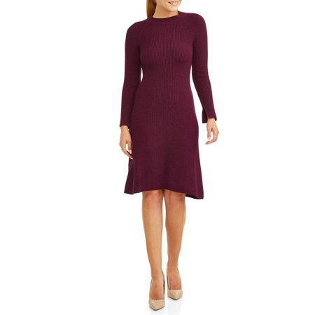 Women's Long Sleeve Shift Sweater Dress - Long Sleeve Flapper Dress