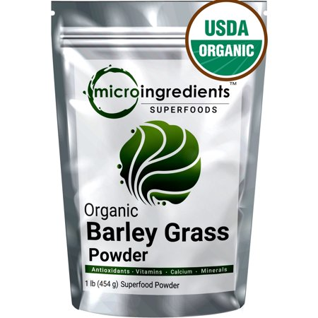 - Premium Pure Organic Barley Grass Powder, 1 Pound