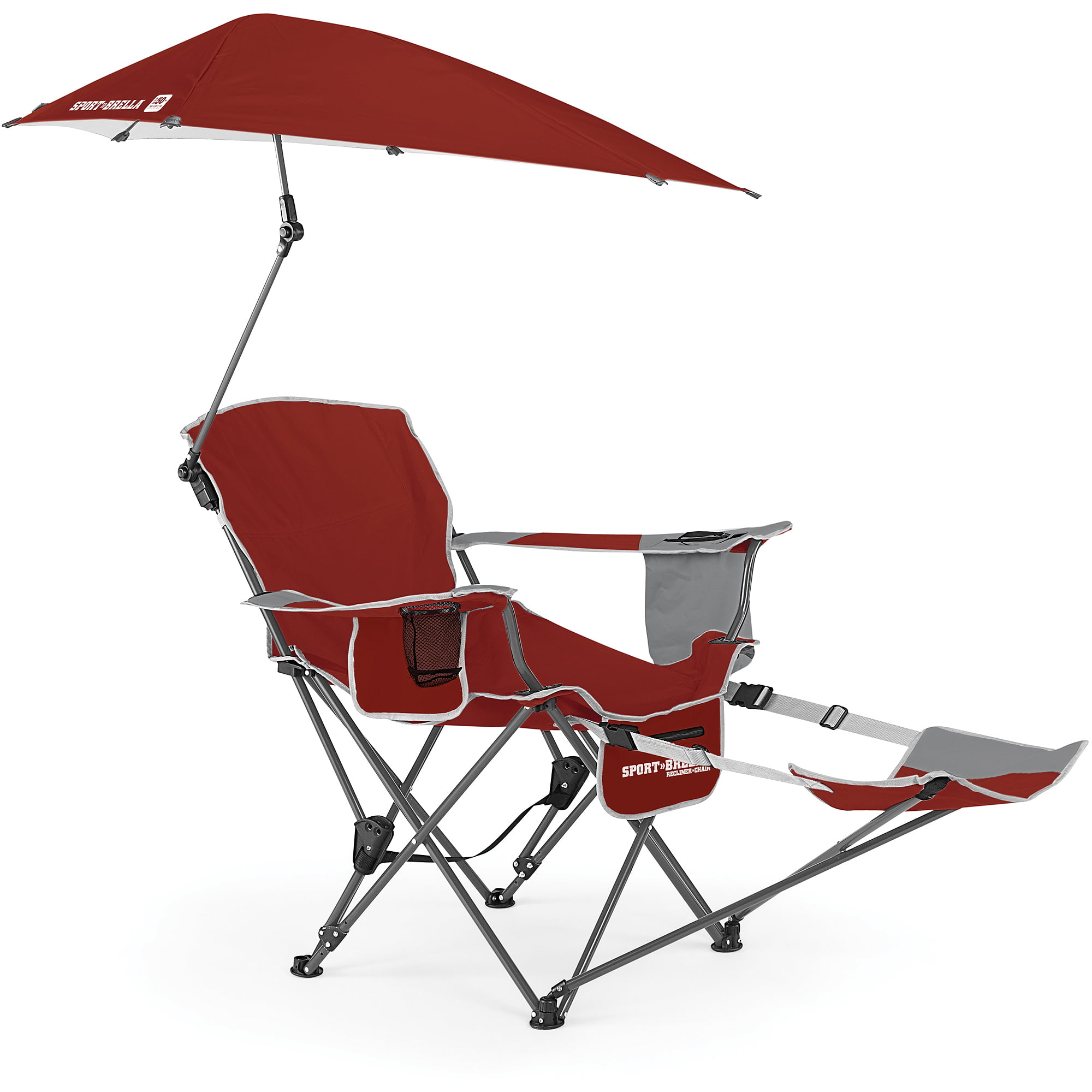 Sport Brella Recliner Chair Firebrick Red Walmart