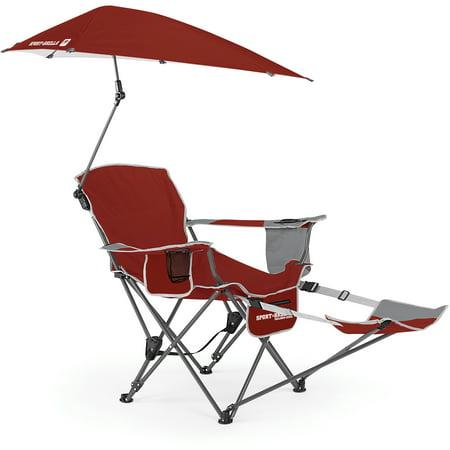 Sport brella recliner chair firebrick red - Sun chairs walmart ...