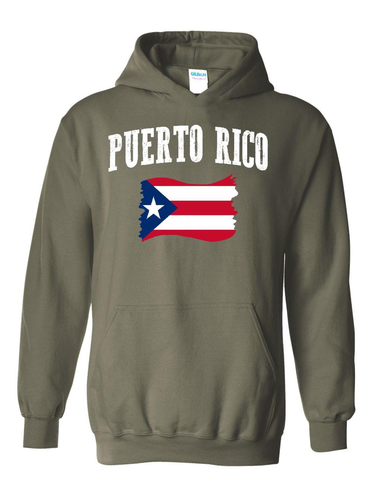 Puerto Rico National Pride Toddler Boys Girls Long Sleeve Sweatshirt Pocket Hoodie 2-6T