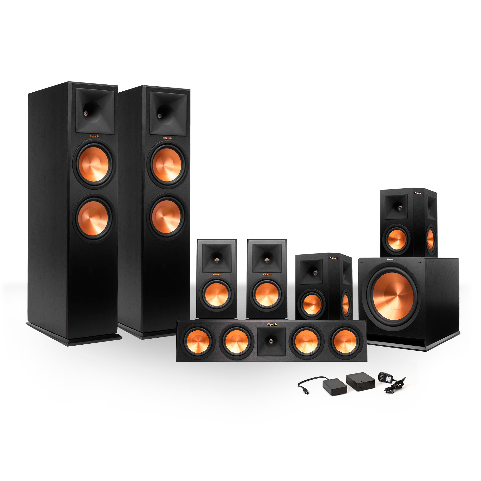Klipsch 7.1 RP-280 Reference Premiere Surround Sound Speaker Package with R-115SW Subwoofer and FREE Wireless Kit by Klipsch