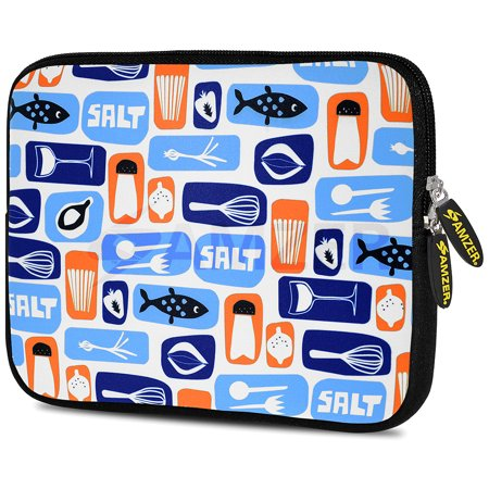 Designer 10.5 Inch Soft Neoprene Sleeve Case Pouch for Samsung Galaxy Tab A 10.1 2016, Tab 4 10.1, LG G Pad X 10.1, ASUS ZenPad Z300M 10.1, Fire HD 10 Tablet - Master Chef Tools (Chef Collection Samsung)