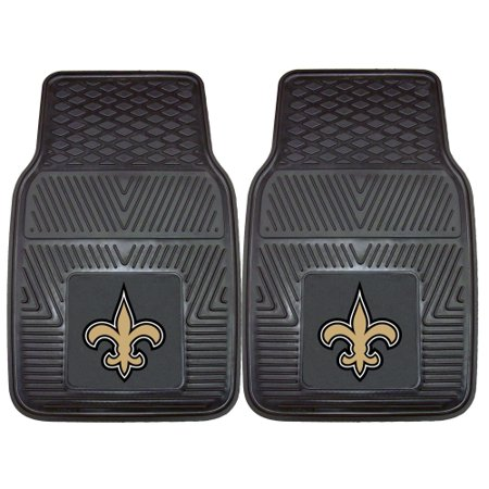 New Orleans Saints 2-pc Vinyl Car Mats