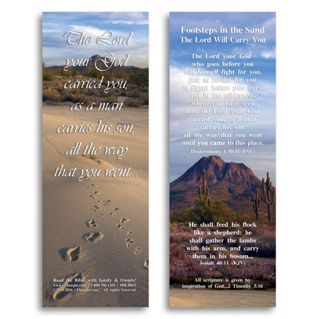 Footsteps In The Sand - Bible Cards - Pack of - Halloween And The Bible