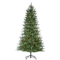 Gerson 7.5-Foot High Pre-Lit Natural Cut Mesa Pine Tree with Warm White LED Lights