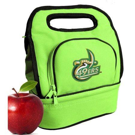 UNC Charlotte Lunch Bags Green UNCC Lunch Tote Cooler w/ Two Sections!