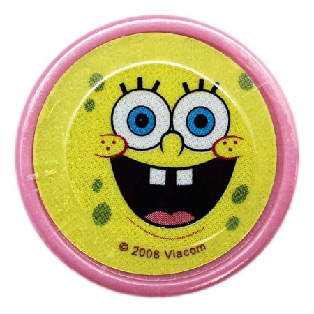Spongebob Squarepants Happy Smiling Face Pink Case Self-Inking Stamp - Pink Bob