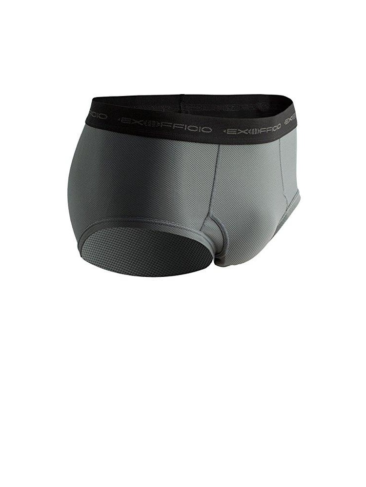 exofficio men's give-n-go brief, charcoal, large by