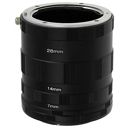 Fotodiox Macro Extension Tube Set Kit for Extreme Close-up, fits Olympus E-1, E-3, E-10, E-20, E-30, E-300, E-330, E-400, E-410, E-420, E-450, E-500, E-510, E-520, E-600, E-620, E-100 RS, Panasonic