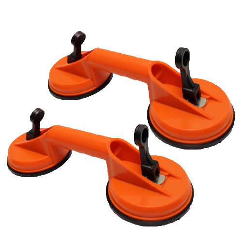 "MTP ®  Pack of 2  4-5/8"" Double Suction Cup Dent Puller Lifer Glass Remover Body Repair Stone 160 lbs"
