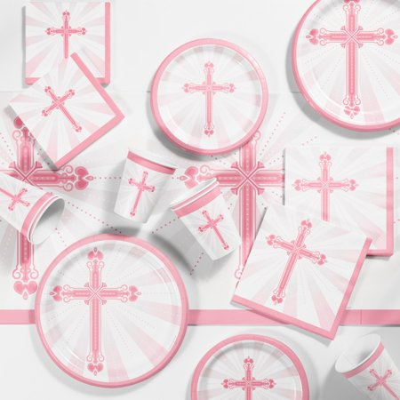 Religious Blessings Pink Tableware Set